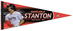 "Giancarlo Stanton ""Superstar"" Miami Marlins Premium Felt Collector's Pennant - Wincraft"