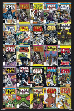 Star Wars Comic Book Covers Poster (25 Original 1977-1986 Cover Designs on One Poster) - Grupo Erik