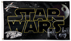 "Star Wars 1977 ""Core Logo"" Official 3'x5' DELUXE Banner Flag - Wincraft"