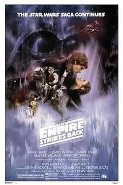 Star Wars The Empire Strikes Back (1980) Official Original One-Sheet Movie Poster Reprint - Grupo Erik