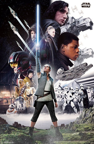 star wars episode 8 the last jedi official character group poster
