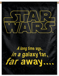 "Star Wars Opening Scroll ""A Long Time Ago"" 28x40 Vertical Banner - Wincraft Inc."