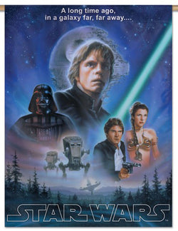Star Wars Original Trilogy (Luke, Han, Leia, Vader) 28x40 Vertical Banner - Wincraft Inc.