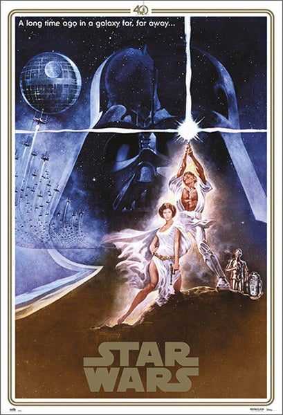"Star Wars (1977) Official ""Style A"" Original Art 40th Anniversary Edition Poster - Grupo Erik"