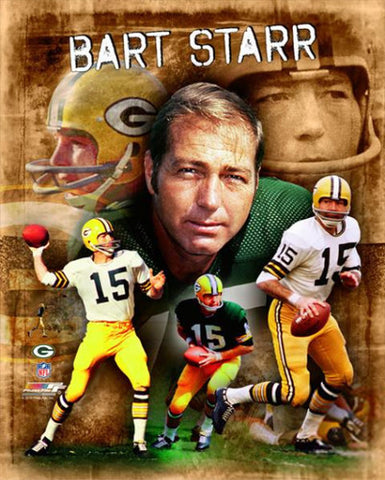 "Bart Starr ""The Legend"" Green Bay Packers Collage Poster - Photofile"