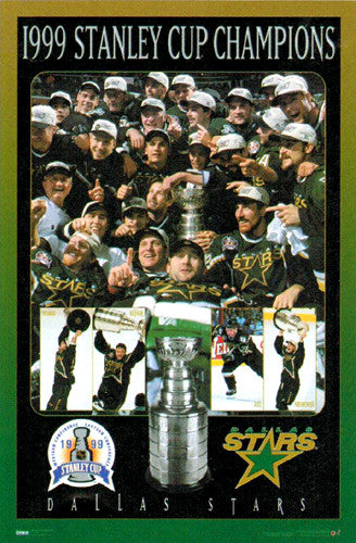 Dallas Stars 1999 Stanley Cup Celebration Commemorative Poster - Costacos Sports