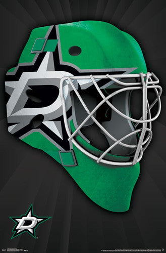 "Dallas Stars ""Mask"" NHL Hockey Official Team Logo Theme Wall POSTER - Trends 2016"