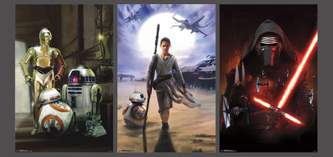 Star Wars Episode VII The Force Awakens Key Characters 3-Poster Set - Trends 2015