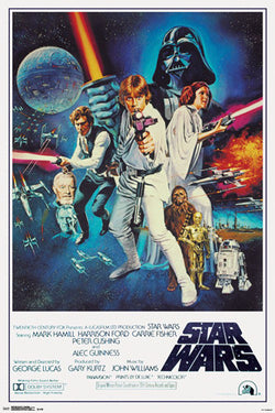 Star Wars Episode IV (1977) Official One-Sheet Movie Poster Reprint (24x36) - Trends International
