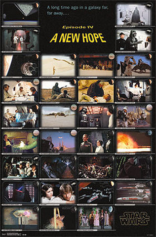 "Star Wars Episode IV (1977) ""31 Moments"" Storyboard-Style Wall POSTER - Trends International"