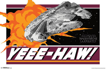 "Star Wars Millennium Falcon Destroys Death Star ""Yee-Haw"" Official Poster - Trends International"