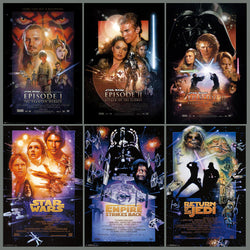 Star Wars Episode I-VI Complete Set of 6 Movie Poster Reprints - Starwars Posters
