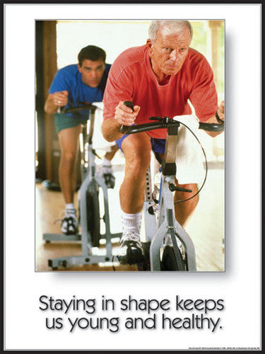 "Seniors Fitness ""Young and Healthy"" Inspirational Poster - Fitnus Corp."