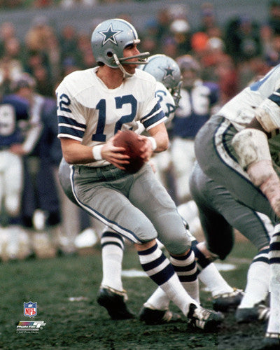 "Roger Staubach ""Drop Back Classic"" (1973) Dallas Cowboys Premium Poster - Photofile"