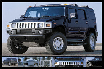 """Black Stealth"" Customized Hummer Poster - Wizard & Genius 2003"