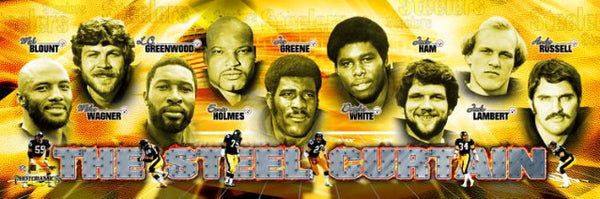 "Pittsburgh Steelers ""The Steel Curtain"" Photoramic Poster Print - Photofile"