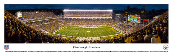 Pittsburgh Steelers Heinz Field NFL Game Night Panoramic Poster Print (2014) - Blakeway