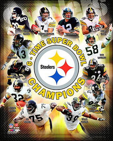 "Pittsburgh Steelers ""Super Bowl Superstars"" Premium Poster Print - Photofile 16x20"