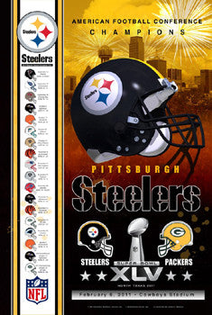 "Pittsburgh Steelers ""Super Season 2011"" AFC Champions Super Bowl XLV Poster - Action Images"