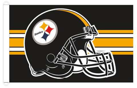 Pittsburgh Steelers Official Helmet-Style NFL Football Giant 3'x5' Flag - Wincraft Inc.