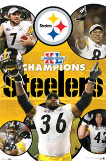 "Pittsburgh Steelers Super Bowl XL ""Celebration"" Commemorative Poster - Costacos 2006"
