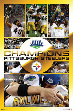 "Pittsburgh Steelers Super Bowl XLIII (2009) ""Celebration"" Poster - Costacos Sports"