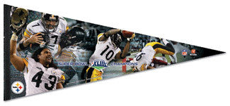 "Pittsburgh Steelers ""Heroes"" Super Bowl XLIII (2009) Oversized Pennant"
