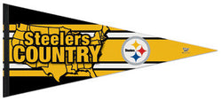 "Pittsburgh Steelers ""Steelers Country"" Oversized Premium Felt Pennant"