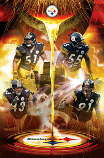 "Pittsburgh Steelers ""Molten Defense"" NFL Football Poster - Costacos 2005"