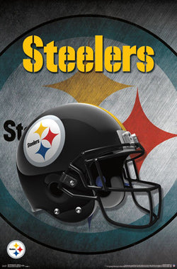 Pittsburgh Steelers Official NFL Football Team Helmet Logo Poster - Trends International