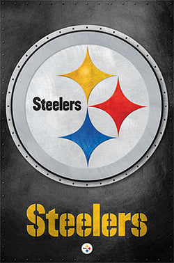 Pittsburgh Steelers Official NFL Football Team Steelmark Logo Poster - Costacos Sports