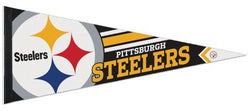 Pittsburgh Steelers Official NFL Football Team Logo Premium Felt Pennant - Wincraft