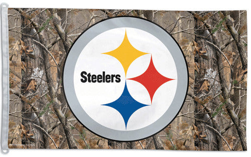 "Pittsburgh Steelers ""Realtree Camo"" Official NFL Football 3'x5' Flag - Wincraft Inc."
