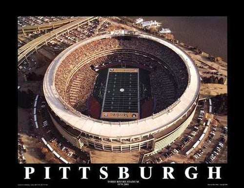 "Three Rivers Stadium ""From Above"" Premium Poster Print  - Aerial Views 2000"
