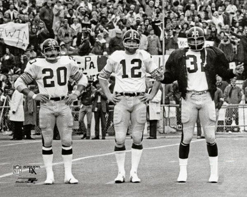 "Pittsburgh Steelers ""Super Bowl IX Trio"" (Bleier, Bradshaw, Harris) Premium Poster - Photofile Inc."