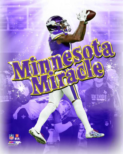 "Stefon Diggs ""Minnesota Miracle"" (2018 Playoff Catch) Premium Poster Print - Photofile 16x20"