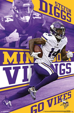 "Stefon Diggs ""Trailblazer"" Minnesota Vikings NFL Action Poster - Trends International"