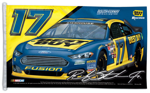 Ricky Stenhouse Jr. NASCAR #17 Best Buy Fusion Huge 3' x 5' Banner Flag - Wincraft 2013
