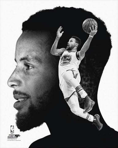 "Stephen Curry ""Pro File"" Golden State Warriors Premium Black-and-White Classic Poster Print - Photofile Inc."