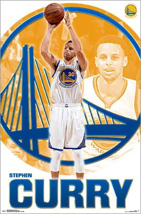"Stephen Curry ""Shooting Star"" Golden State Warriors NBA Poster - Trends International"