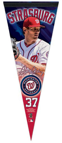 Stephen Strasburg Signature Series Washington Nationals Premium Felt Collector's Pennant - Wincraft Inc.