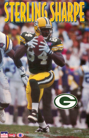 "Sterling Sharpe ""Superstar"" Green Bay Packers NFL Action Poster- Starline 1994"