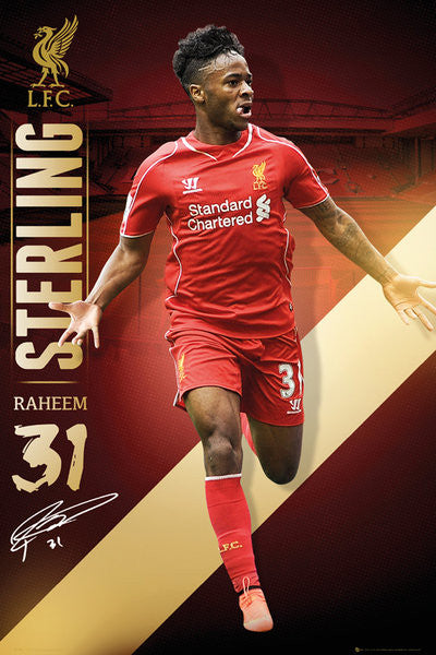 Raheem Sterling Liverpool FC Signature Series EPL Action Poster - GB Eye (UK)