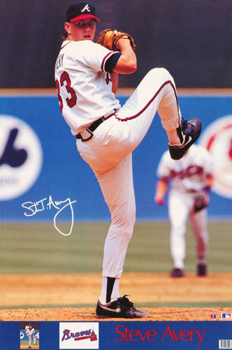 "Steve Avery ""Signature Series"" Atlanta Braves MLB Baseball Poster - Marketcom 1992"