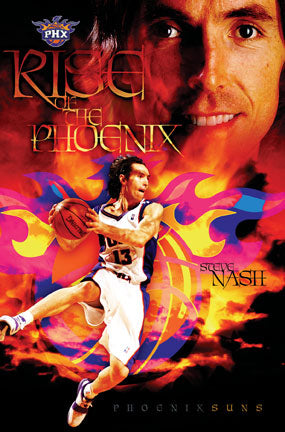 "Steve Nash ""Rise of the Phoenix"" Phoenix Suns Poster - Costacos 2005"