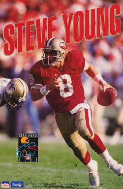 "Steve Young ""QB Club"" San Francisco 49ers Poster (1993) - Starline Inc."