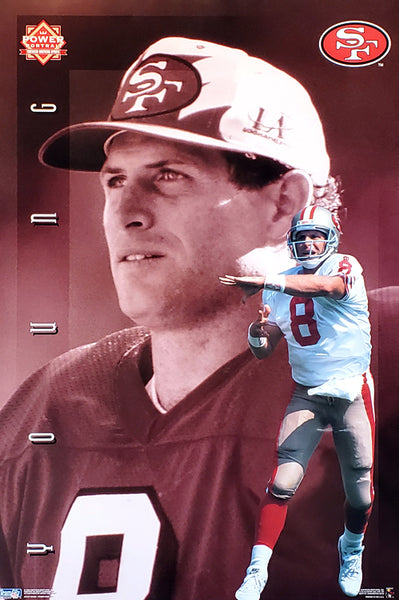 "Steve Young ""Superstar"" San Francisco 49ers Poster - Costacos Brothers 1995"