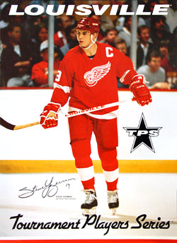 Steve Yzerman Louisville TPS Signature Series Detroit Red Wings NHL Action Poster (1991)