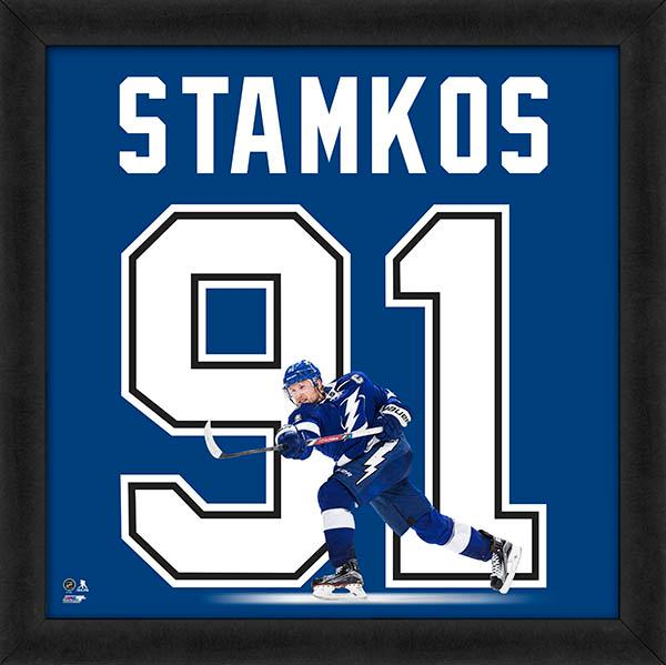 "Steven Stamkos ""Number 91"" Tampa Bay Lightning FRAMED 20x20 UNIFRAME PRINT - Photofile"