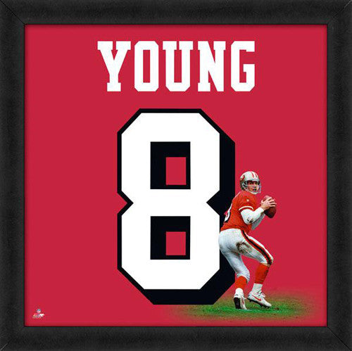 "Steve Young ""Number 8"" San Francisco 49ers NFL FRAMED 20x20 UNIFRAME PRINT - Photofile"